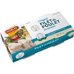 Nobles Filet de poulet L'Original en saumure les 2 boites de 58 g net égoutté