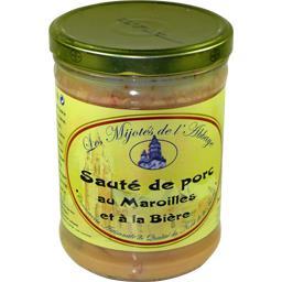 Les Mijotés De L'Abbaye Sauté de porc aux Maroilles le bocal de 750 g