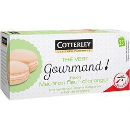 Cotterley Gourmand ! - Thé vert façon macaron fleur d'oranger les 25 sachets de 1,6 g
