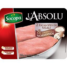 2 escalopes de veau sauce normande