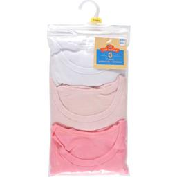 Tee-shirt fille manches courtes unis, 2/3 ans