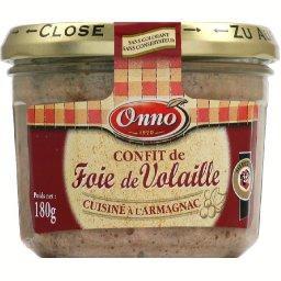 Confit de foie de volaille cuisiné à l'Armagnac