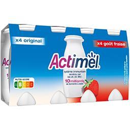 Actimel - Yaourts à boire goût original goût fraise