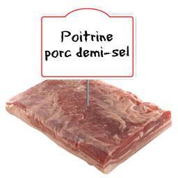 Poitrine de porc DEMI SEL