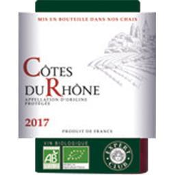 Côte du rhône BIO, vin rouge