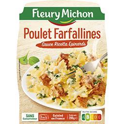 Poulet et Farfallines sauce ricotta épinards