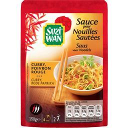 Sauce pour nouilles sautées curry poivron rouge