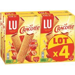 Cracotte - Bâtonnets de céréales fourrés fraise