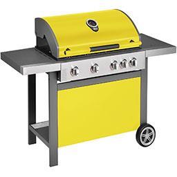 Barbecue à gaz Home 4 bruleurs avec bruleur latéral ...