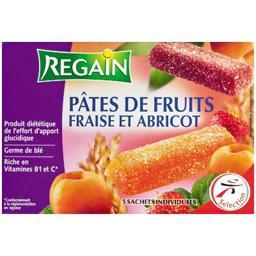 Sport et performance, pâtes de fruits fraise abricot, sachets individuels