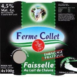 Faisselle au lait de chèvre, fromage blanc frais