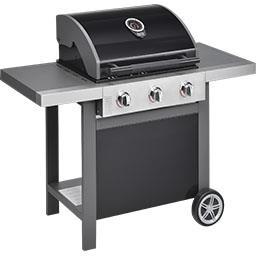 Barbecue à gaz Home 3 bruleurs noir