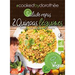 Salade 2 quinoas courgettes, petit pois, brocolis et coriandre BIO