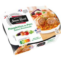 Paupiettes de porc sauce provençale sel réduit
