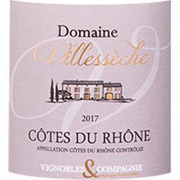 Côtes du Rhône Domaine de Villessèche vin Rouge 2017