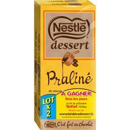 Chocolat au lait praliné Nestlé Dessert