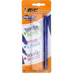 Stylos gel effaçable rechargeable 0,7 mm bleu