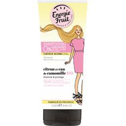Shampooing au citron et à l'eau de camomille Bio pour cheveux blonds naturels ou colorés