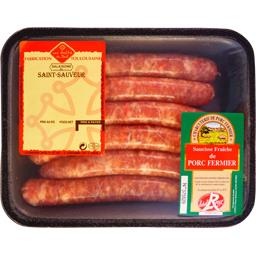 Chipolatas porc fermier Label Rouge