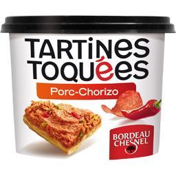 Tartines toquées porc chorizo