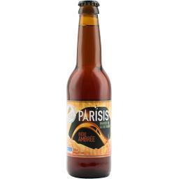 Brasserie Parisis Bière ambrée la bouteille de 33 cl