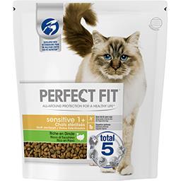 Croquettes à la dinde Sensitive 1+ pour chats stéril...