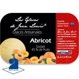Les glaces de jean-louis Sorbet abricot Le bac 750ml / 450g