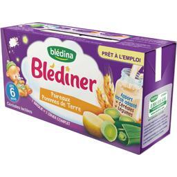 Blédîner - Céréales lactées poireaux pommes de terre, dès 6 mois