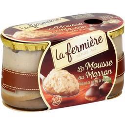 La Mousse au Marron sur lit de crème de marron