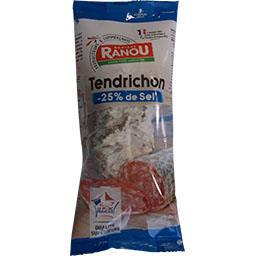 Monique Ranou Le Tendrichon pur porc 25% sel en moins le paquet de 250 g