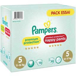 Pampers premium protection couches+couches-culottes t5