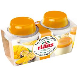 La Panna Cotta et son coulis mangue passion