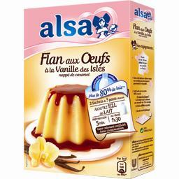 Préparation flan aux œufs vanille des Isles nappé ca...