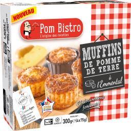 Muffins de pomme de terre à l'emmental