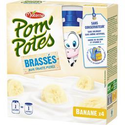 Materne Pom'potes Pom'Potes - Brassés aux fruits mixés banane