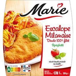Escalope milanaise dinde 100% filet spaghetti