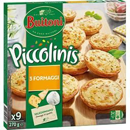 Piccolinis - Mini pizzas 3 fromages