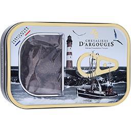 Boite sardine garnie de friture chocolat noir 100g