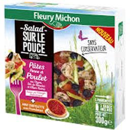 Salad' Sur Le Pouce - Pâtes penne & poulet + mini tartelette