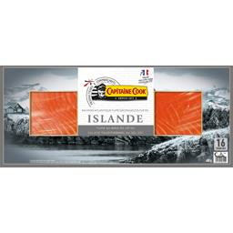 Capitaine Cook Saumon Atlantique fumé Islande le paquet de 16 tranches - 400 g