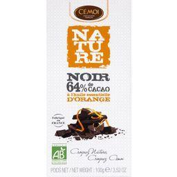 Grands Crus Cacao - Chocolat noir 64% à l'orange BIO