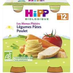 Les Menus Plaisirs - Légumes pâtes poulet BIO, dès 1...