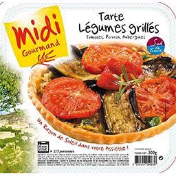 Tarte légumes grillés, tomates, poivron, aubergines