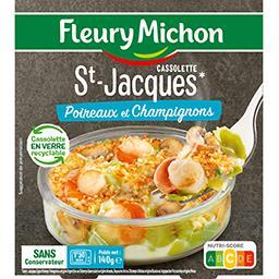 Cassolette St-Jacques poireaux & champignons