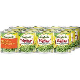 Bonduelle Vapeur - Haricots verts extra fins et tendres le lot de 12 boites de 440 g