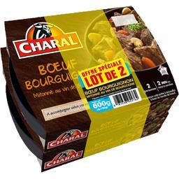 Charal Bœuf bourguignon le barquettes - 600 g