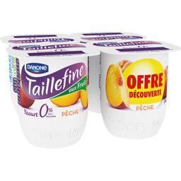 Taillefine Yaourt brassé aux fruits 0% pêche les 4 pots de 125 g