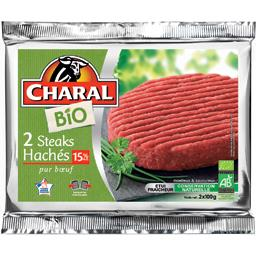 Steaks hachés pur bœuf BIO 15% MG