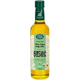 Préparation culinaire huile d'olive et basilic BIO