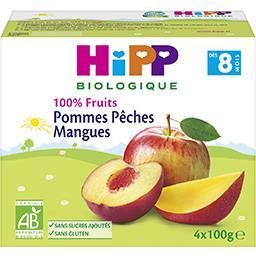 100% Fruits - Pommes pêches mangues BIO, dès 8 mois